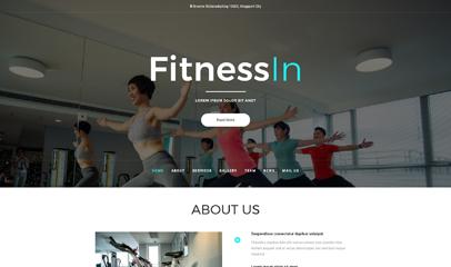 运动健身企业网站模板