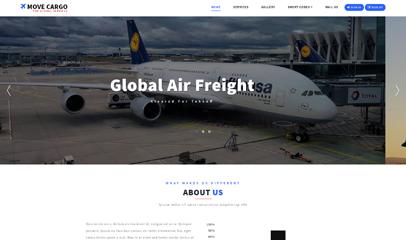 飞机货物托运网站模板