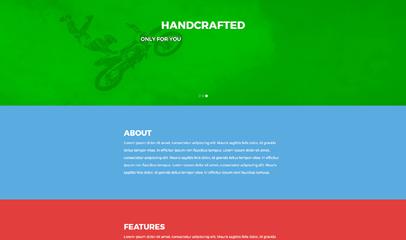CSS3纵向滚屏翻页bootstrap模板