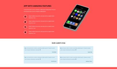 APP應用項目展示企業網站模板