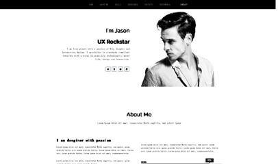 白色风格个人网站模板