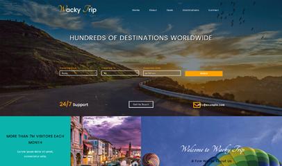 宽屏旅游企业网站模板