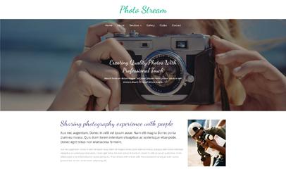 时尚摄影图片展示bootstrap网站模板