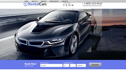 汽車租賃HTML5響應式模板