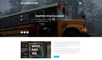 宽屏校园教育网站模板