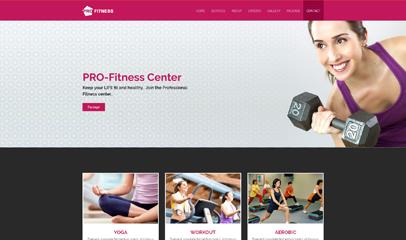 大气健身运动网站模板