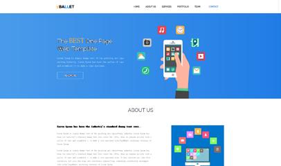 藍色清爽手機業務網站模板