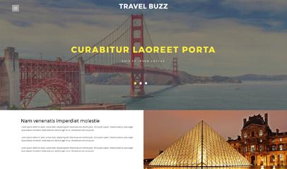 宽屏旅游热点网站模板