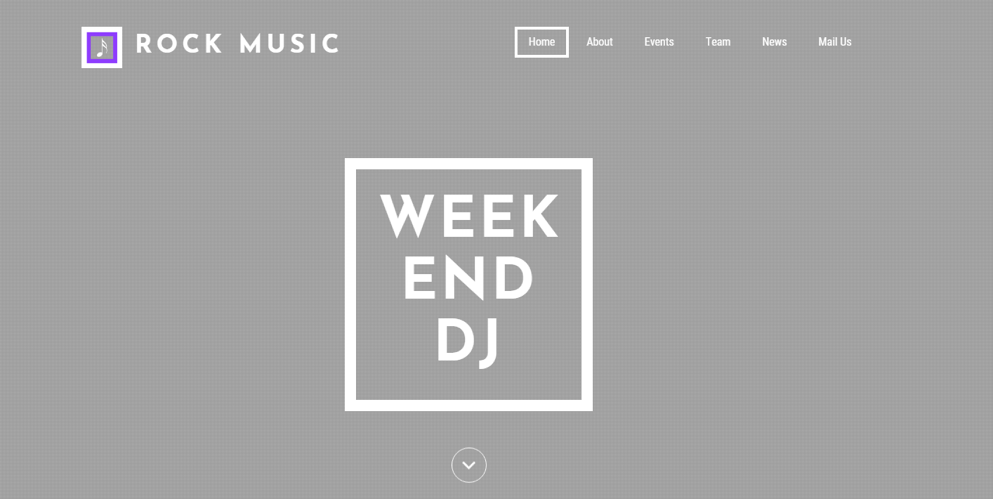 搖滾音樂娛樂網站模板