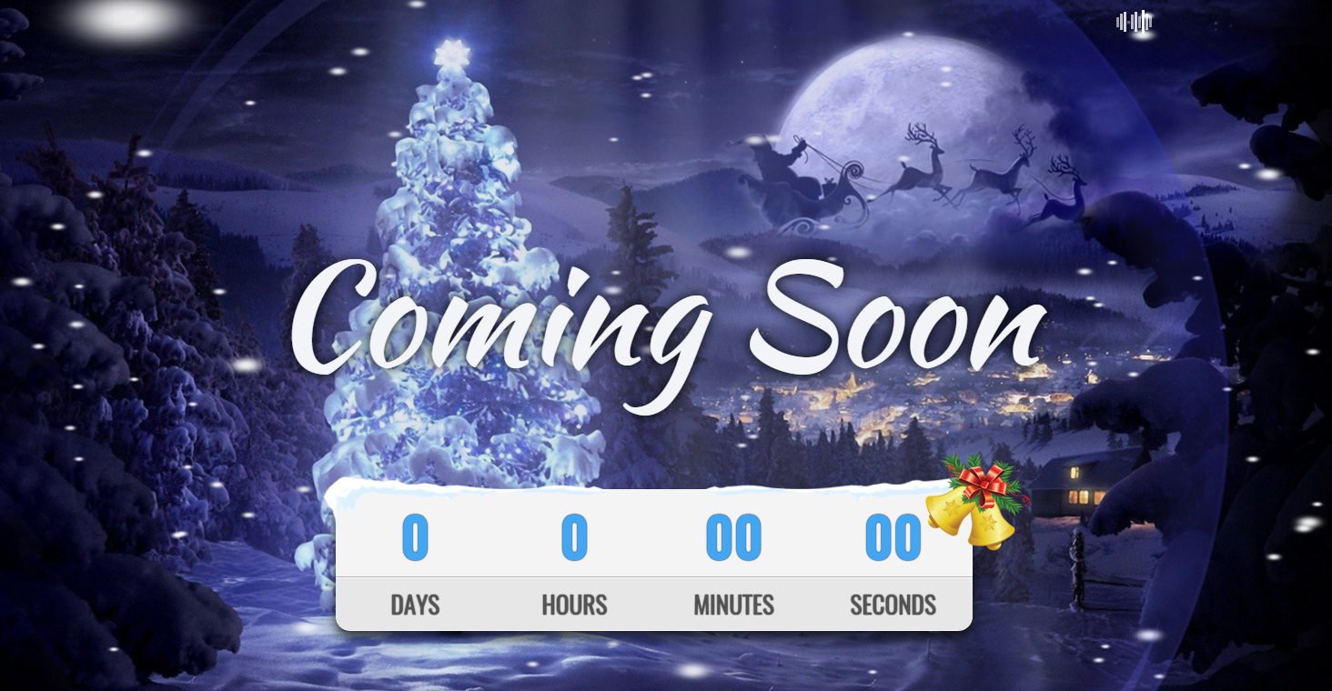 带音乐HTML5圣诞网站模板