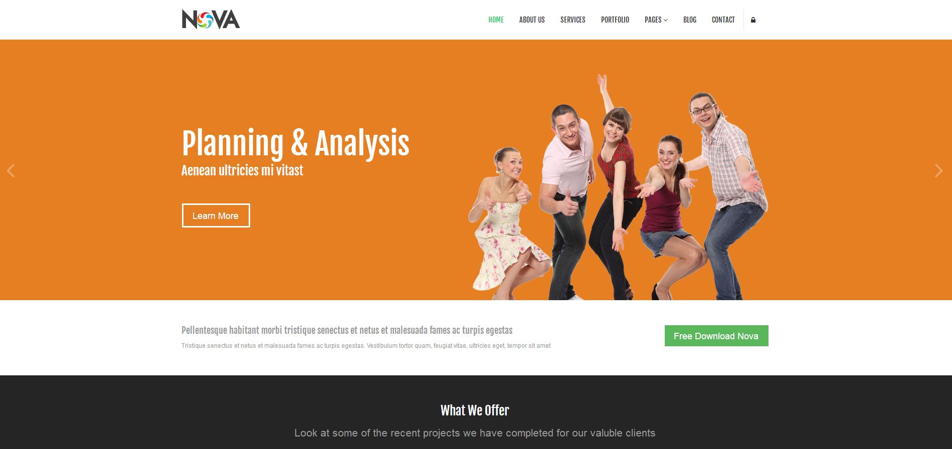 网站设计公司企业官网响应式模板