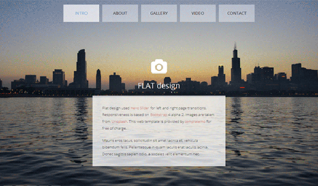 css3简单全屏滑动的个人博客网站模板