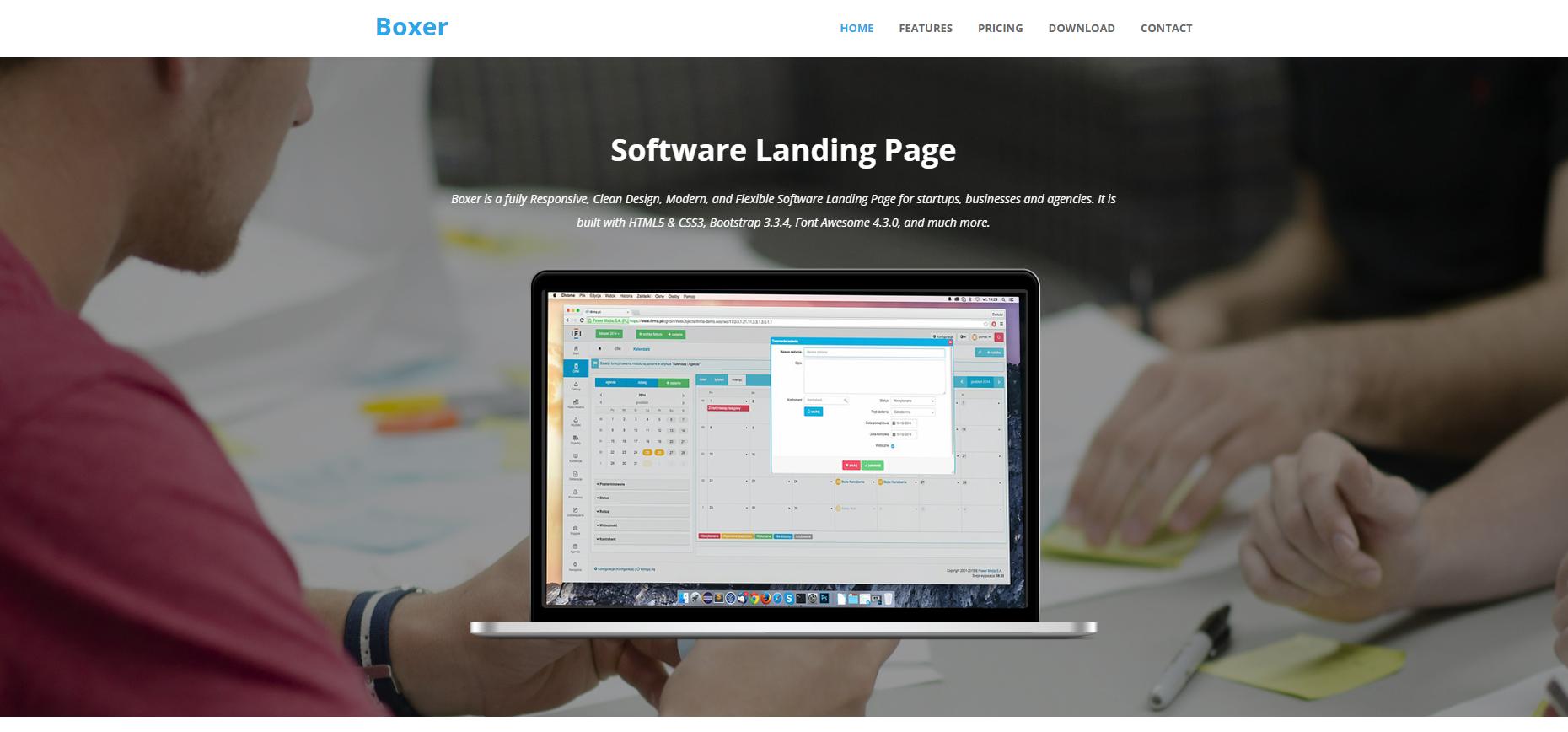 系统UI软件的开发公司模板