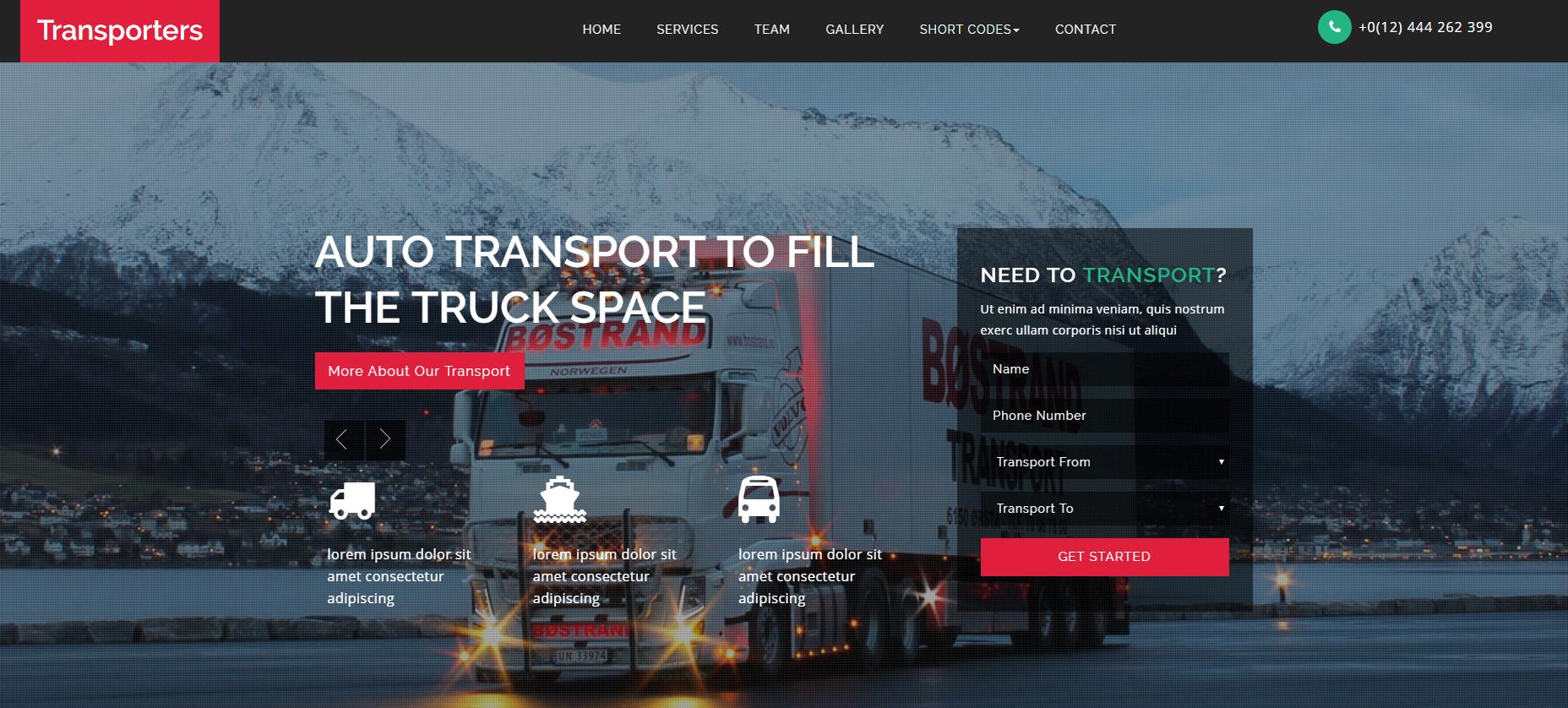 货车集运公司网站模板