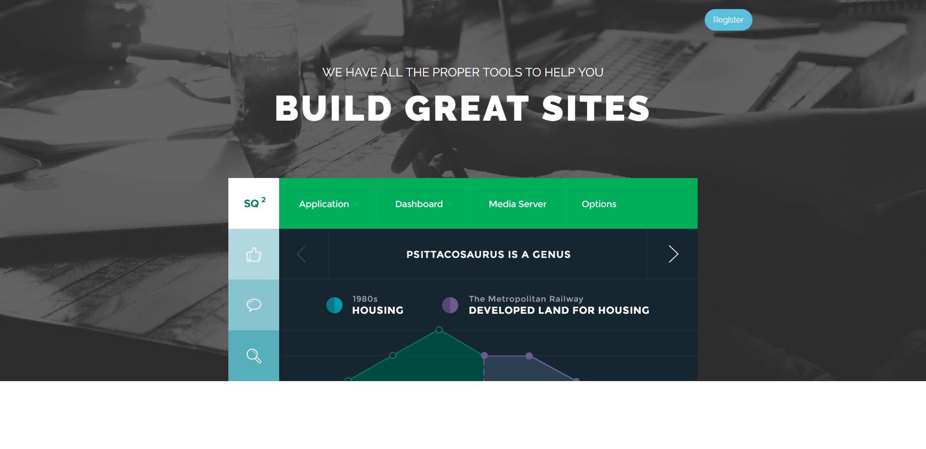 CSS3動畫項目引導頁模板