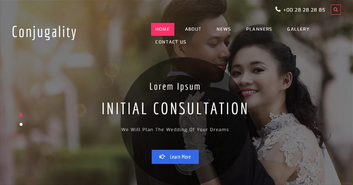 情侣婚纱摄影的网站模板