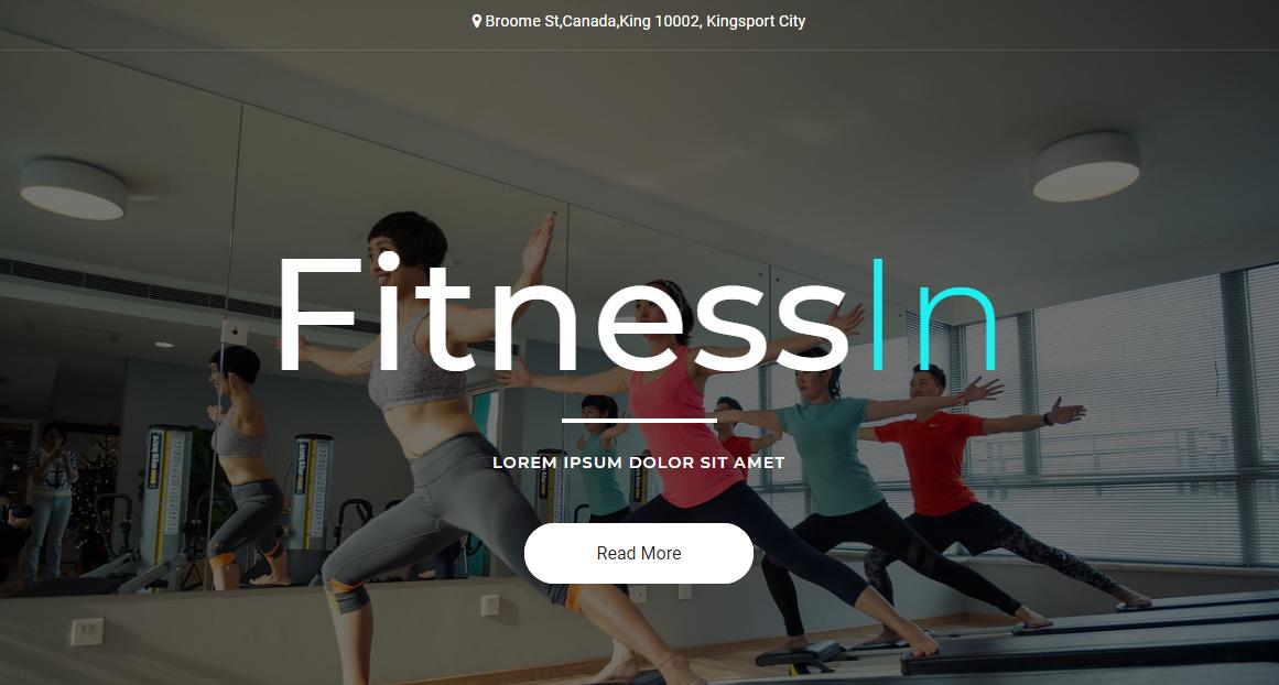 运动健身企业的网站模板