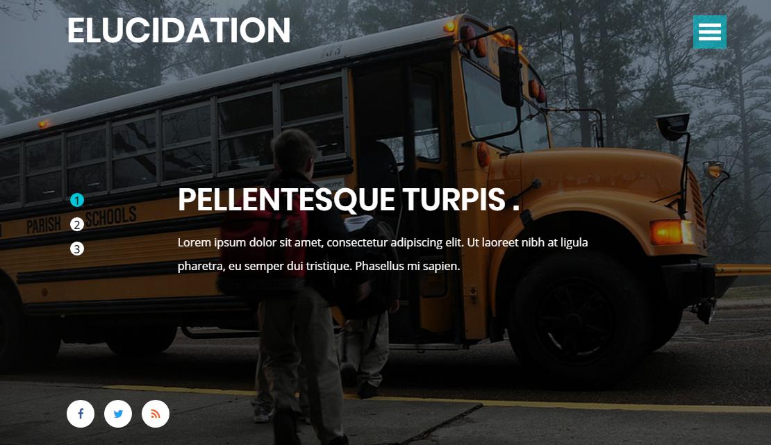 宽屏的校园教育网站模板