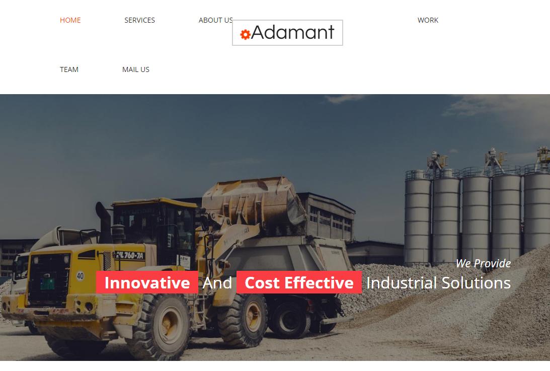 建筑行业服务公司网站模板