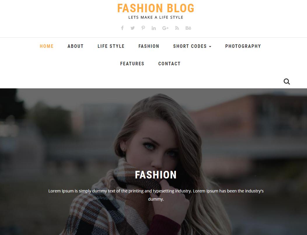 时尚服装博客网站模板