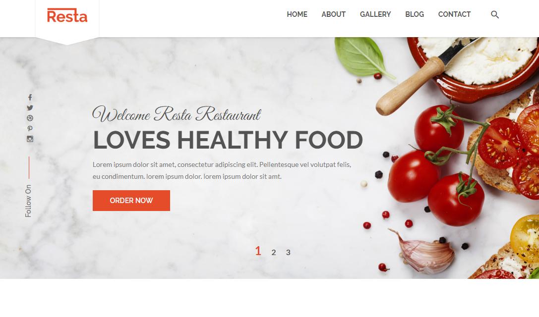 白色響應式西餐廳企業網站模板