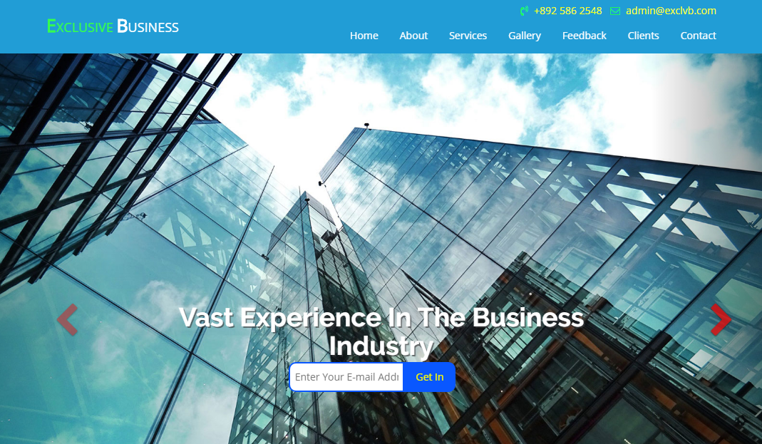 H5蓝色商业集团网站