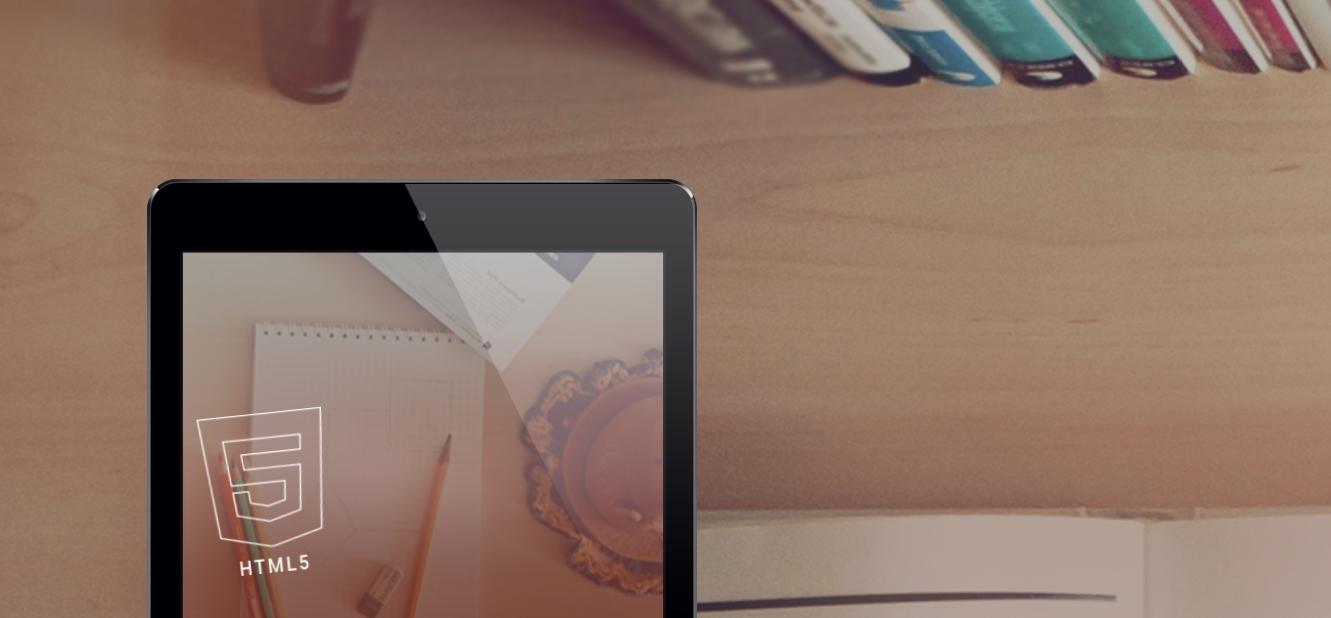 橘黃HTML5自適應辦公網站