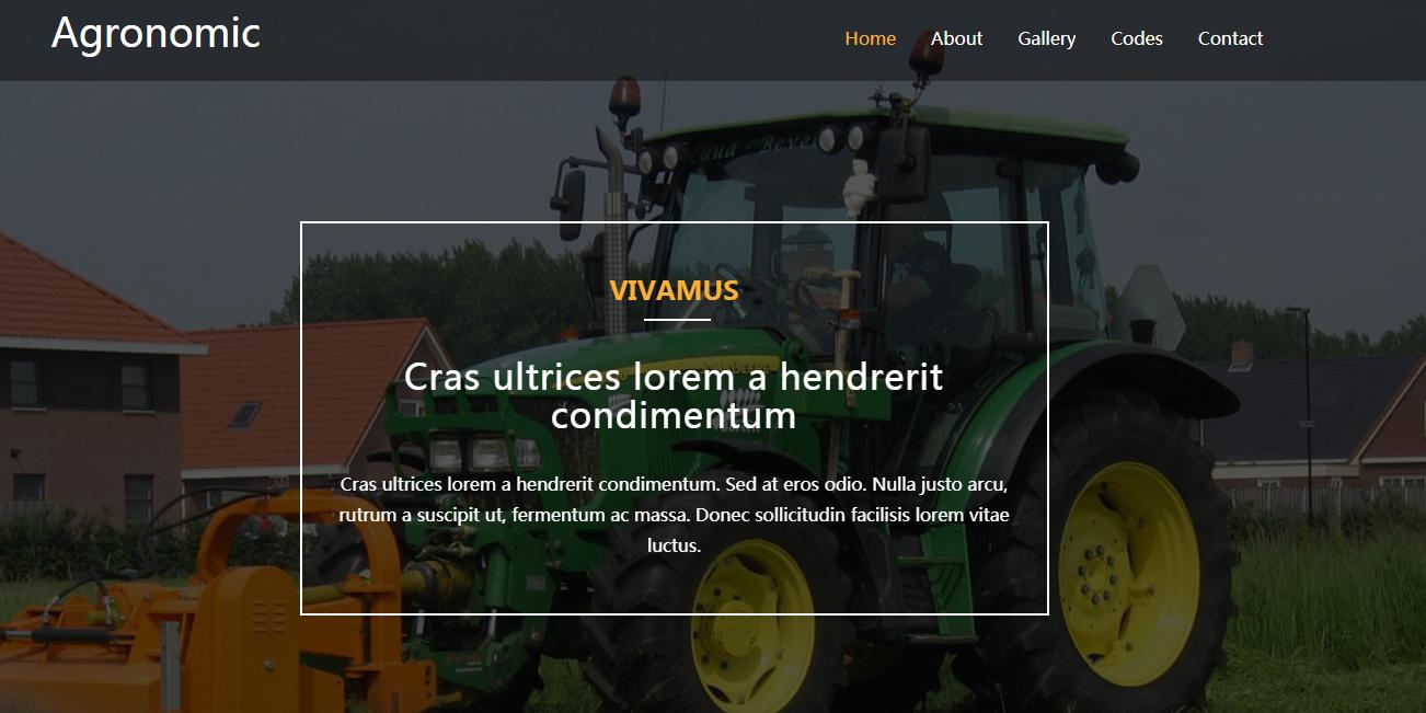 绿色大米农业农产品企业网站模板