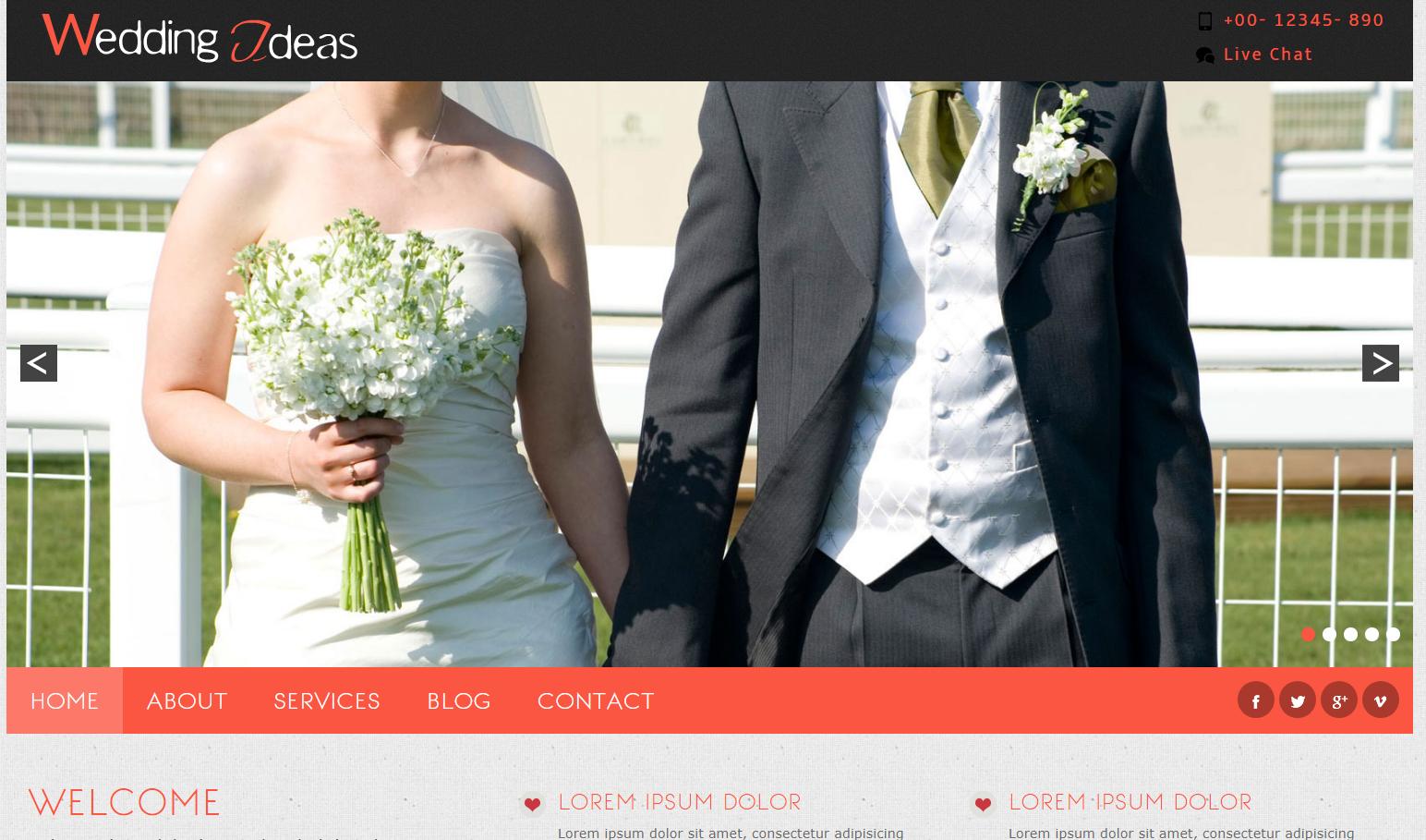 婚纱摄影工作室网站模板