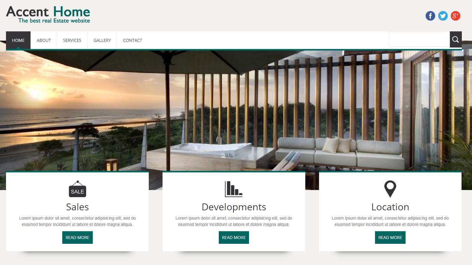 休闲度假酒店网站模板