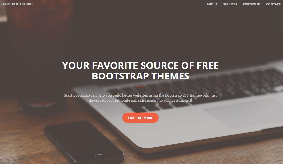 橙色创意设计公司单页网站
