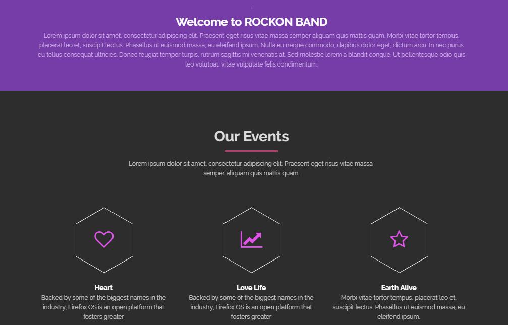 紫红色大气扁平化单页网站模板
