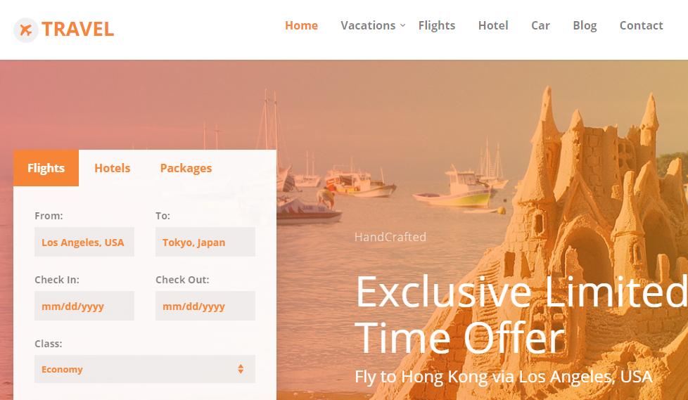 沙灘旅游景點查詢網站模板