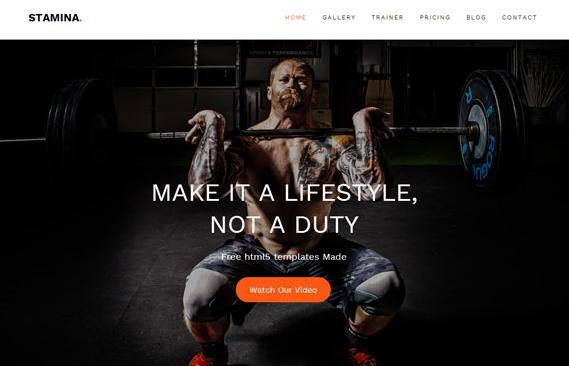 霸气体育运动健身网站模板下载
