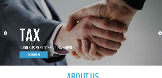 蓝色宽屏商务合作网站模板