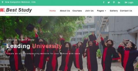 教育課程定制響應式網頁