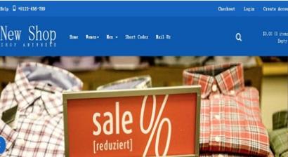 黄色时尚商场服饰品牌购物网站模板