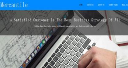 外贸商务团队企业网站模板