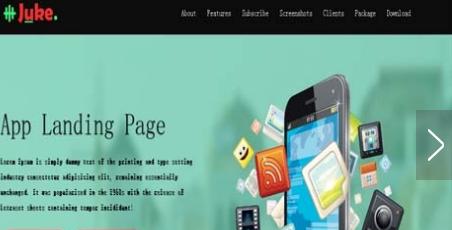 手机app应用市场单页模板