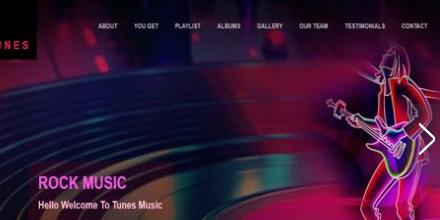 搖滾音樂bootstrap主題網站模板·