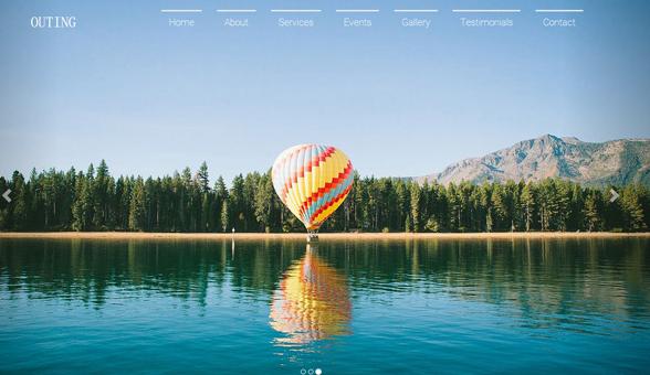跟团郊游旅行景点推荐网站模板