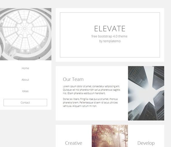 簡潔白色鏤空設計師個人主頁模板