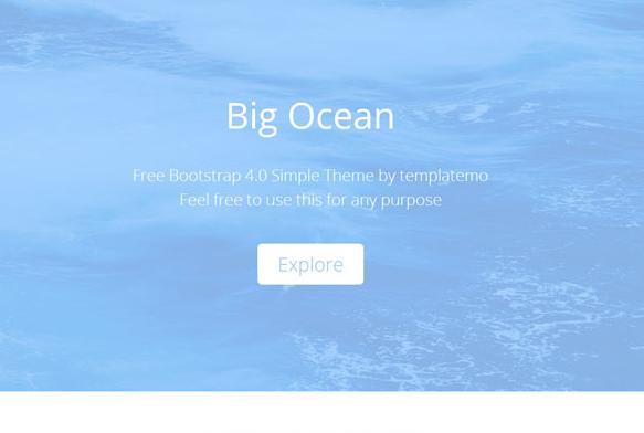 藍色的清爽單頁排版HTML5模板