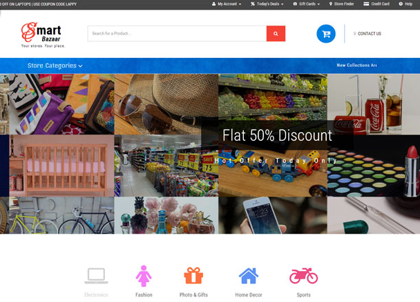 商场网上商城CSS3整站模板