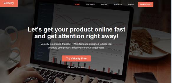 黑色网站运营数据分析网站模板