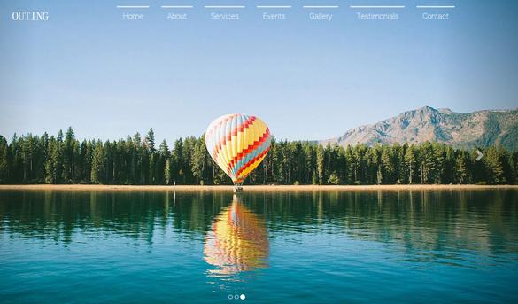 国际旅游旅行景点推荐网站模板