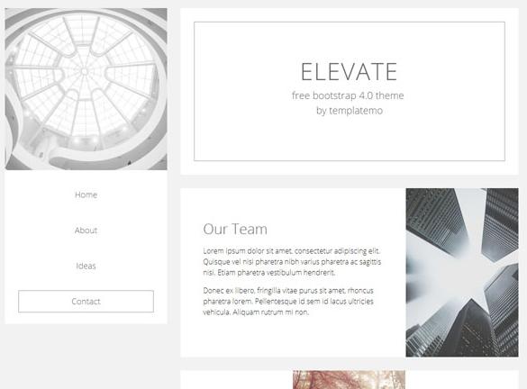 极简白色设计师个人主页模板