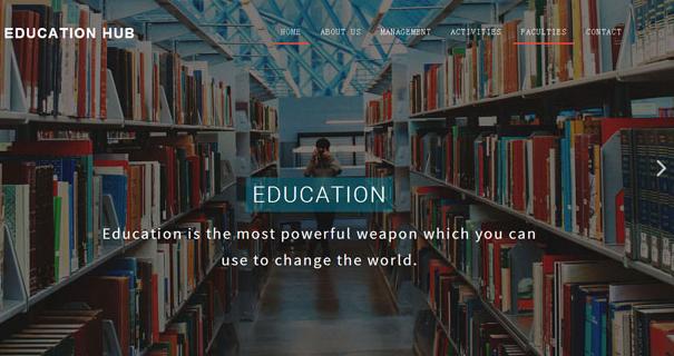 图书馆与教育机构网页模板