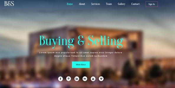 高端房产建筑设计CSS3网站模板