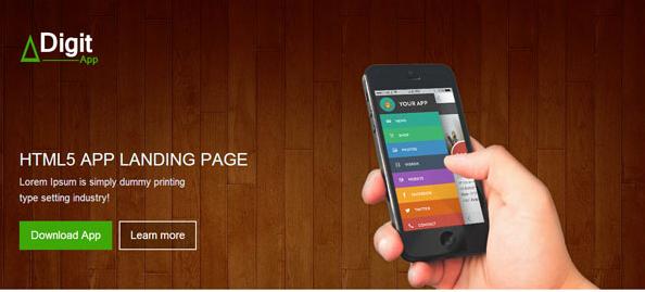 桃木风格手机app官网模板